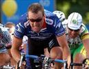 Lance Armstrong im Spurt. (Archiv)