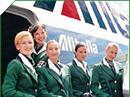 Alitalia-Flugbegleiter.