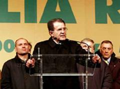 Der Kandidat des Mittel-Links-Bündnis, Romano Prodi.