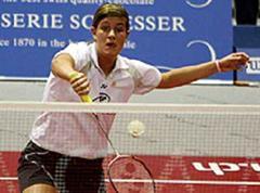 Badmintonspielerin Jeanine Cicognini ist für Peking selektioniert.