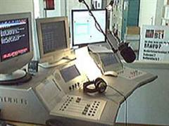 Das Sendestudio vom Radio BE1 in der Berner Optingenstrasse.