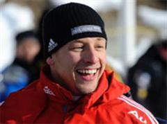 Ein gut gelaunter Pascal Oswald heute in St. Moritz.