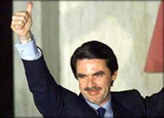 José Maria Aznar wurde in seinem Amt deutlich bestätigt.