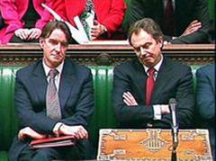 Peter Mandelson und Toni Blair.