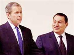 George Bush und Husni Mubarak.