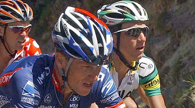 Lance Armstrong und Tyler Hamilton. (Archivbild)