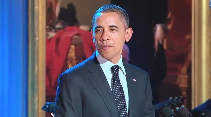 Barack Obama ist bei den Kindern beliebt.