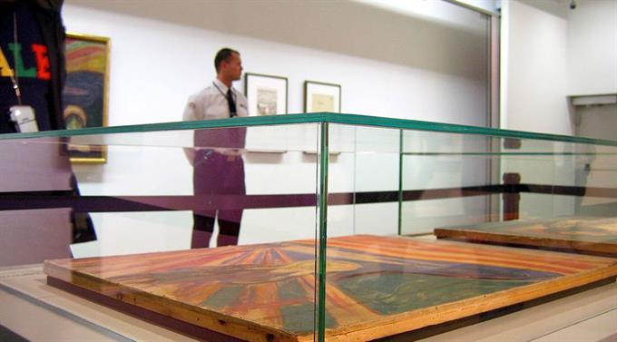 Zwei Jahre nach dem letzten Diebstahl und den schweren Beschädigungen gelten strenge Sicherheitsmassnahmen für den «Der Schrei? im Munch-Museum.