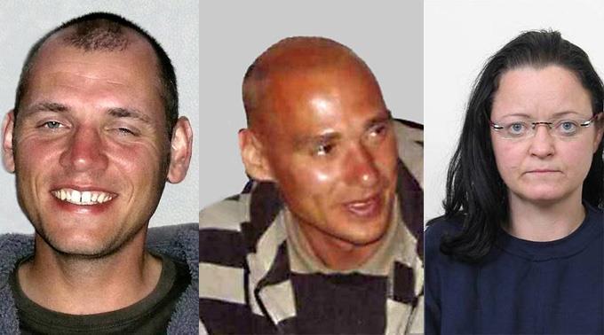 Die NSU-Bande: Uwe Bönhardt, Uwe Mundlos, Beate Zschäpe.