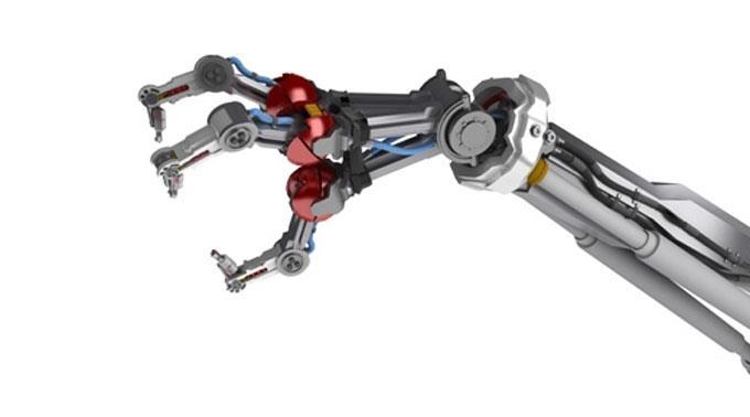 Roboterarm: Bewegung frisst unnötig Strom.
