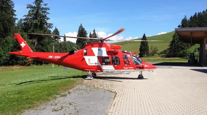 Die Verletzte musste mit der Rega ins Spital geflogen werden.