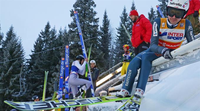 Simon Ammann in Lillehammer.