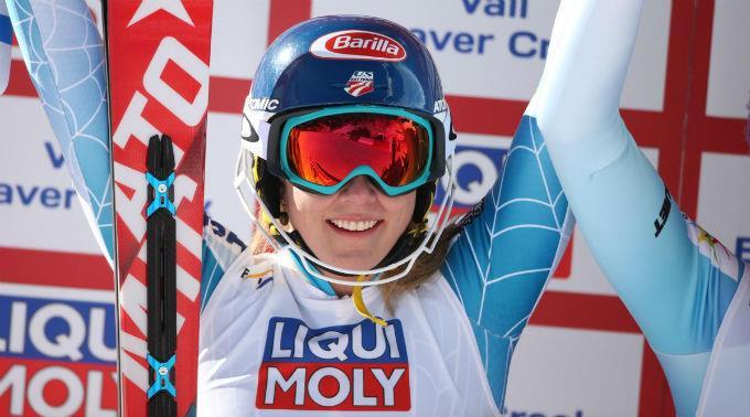 Strahlende Siegerin: Mikaela Shiffrin.