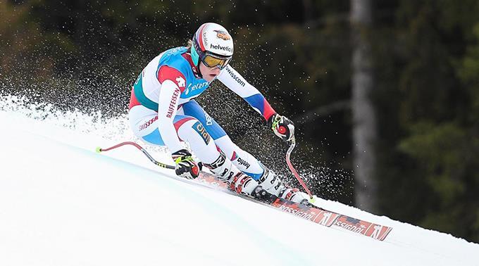 Ski-Talent Rahel Kopp auf der Piste in Hafjell.