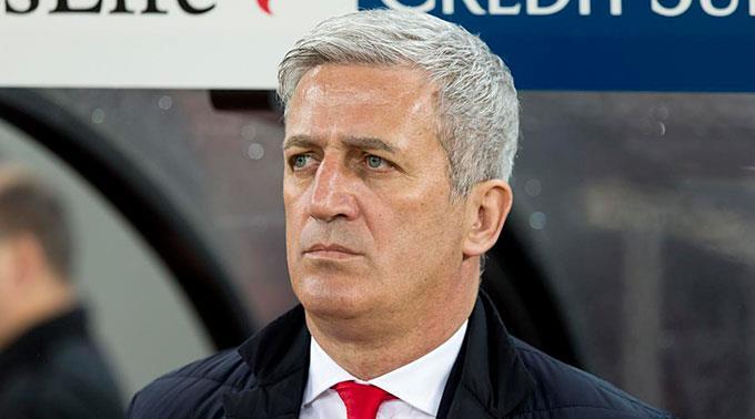 Kein Lächeln:  Trainer Vladimir Petkovic.