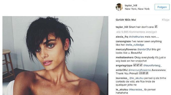 Taylor Hill hat ihre Instagram-Fans an der Nase herumgeführt.